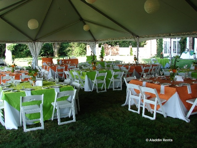 a corporate tent event