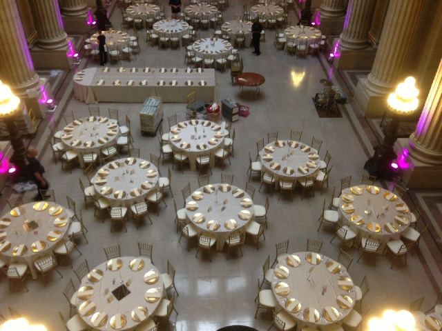 city hall wedding setup