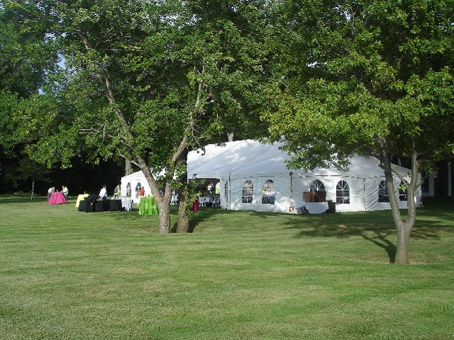 lake front wedding tent