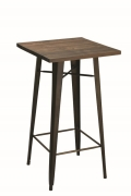 Rental store for TABLE, COCKTAIL 24  SQUARE METAL WOOD in Cleveland OH