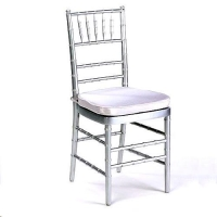 Rental store for CHAIR, CHIAVARI, SILVER, WHITE PAD in Cleveland OH