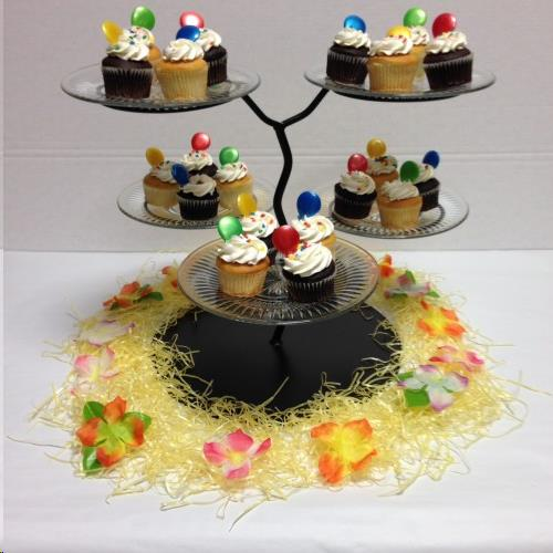 Where to find CUPCAKE STAND, BLACK WITH GLASS PLATES in Cleveland