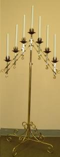 Rental store for BRASS FLOOR CANDELABRA, 7 LITE in Cleveland OH