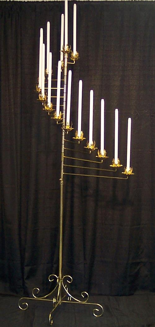 Where to find BRASS SPIRAL FLOOR CANDELABRA, 15 LITE in Cleveland