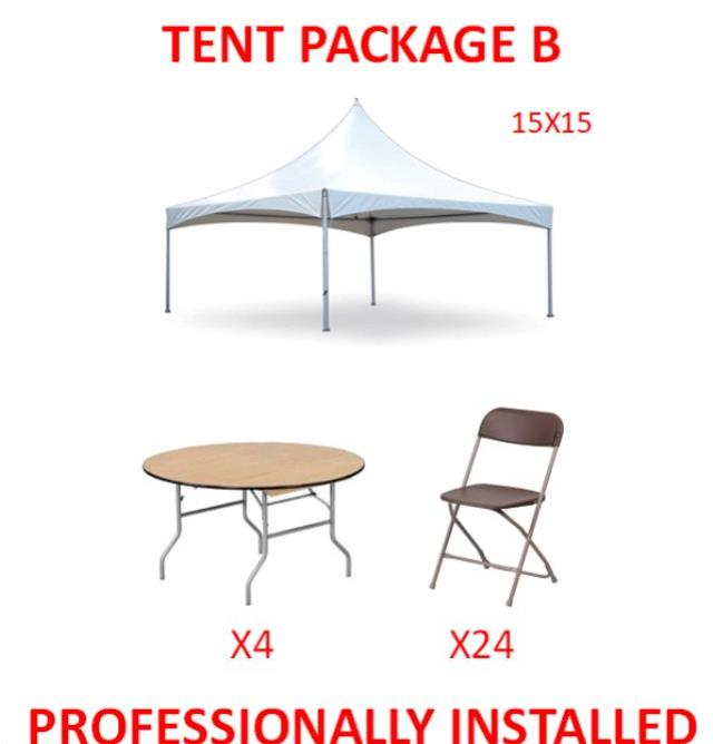 Where to find PARTY TENT PACKAGE B in Cleveland