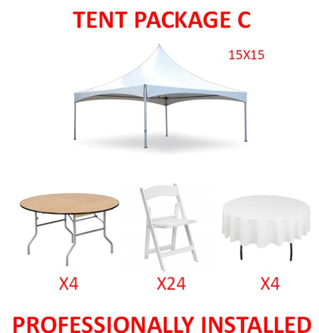 Where to find PARTY TENT PACKAGE C in Cleveland