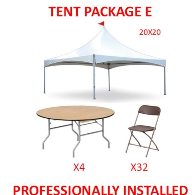 Where to find PARTY TENT PACKAGE E in Cleveland