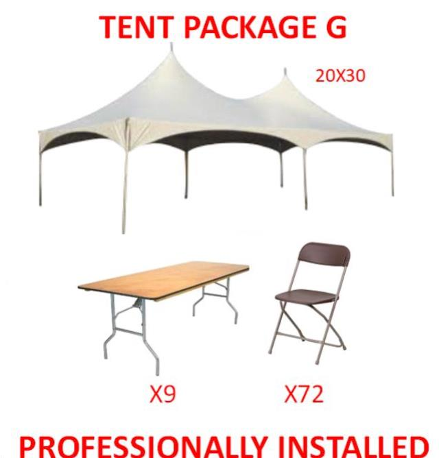 Where to find PARTY TENT PACKAGE G in Cleveland