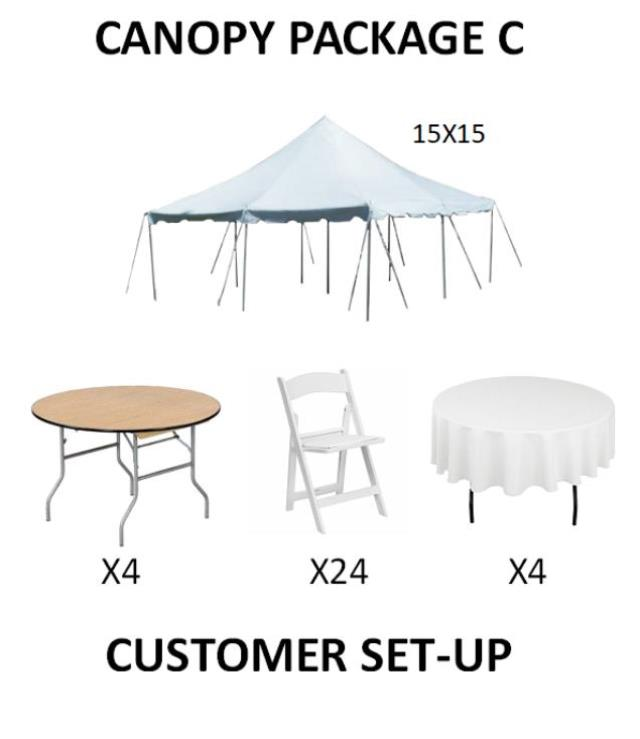 Where to find PARTY CANOPY PACKAGE C in Cleveland