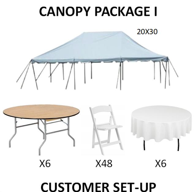 Where to find PARTY CANOPY PACKAGE I in Cleveland