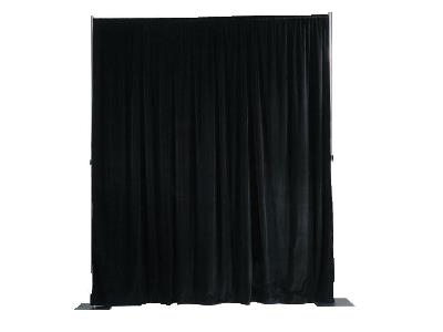 Where to find BACKDROP, 8 H x 10 L BLACK PLUSH STARTER in Cleveland