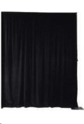 Rental store for BACKDROP, 8 H x 20 L BLACK POLY PLUSH in Cleveland OH